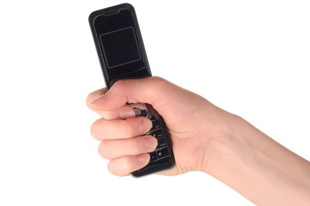 radio activity: Cell phone in hand