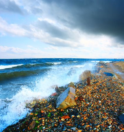 強力な海の風