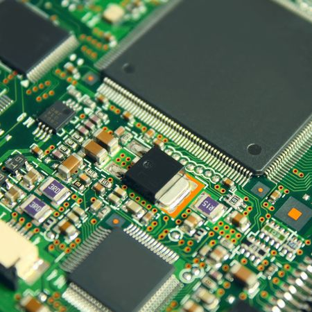 pb: Electronic components on board