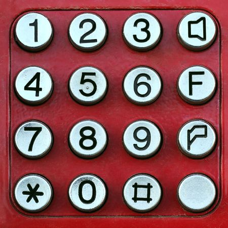 metall: Red keypad with metall buttons