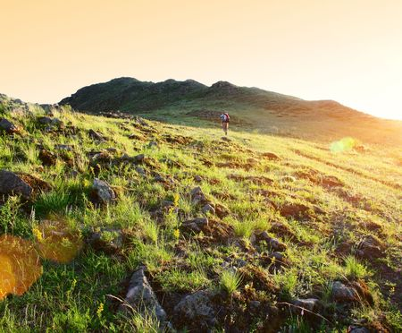 Sunset in mountains Stock Photo - 5964631