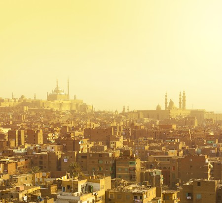 gamma: Ciudad �rabe en amarillo gamma. El Cairo
