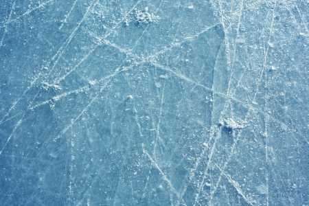 on the surface: Ice surface with scratches