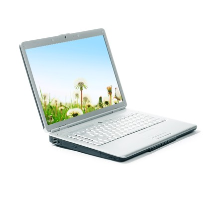 laptop isolated: Port�til aislado en blanco