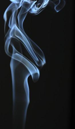 Blue smoke isolated on black Stock Photo - 7469990