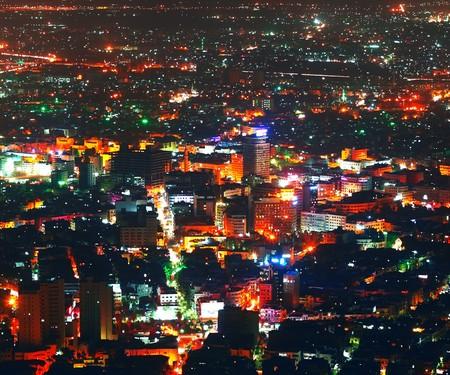 damascus: Night Damascus view Stock Photo