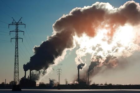 contaminacion ambiental: Vegetales con humo
