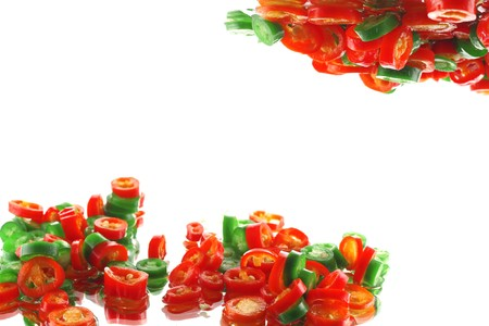 Chili pepper slices Stock Photo - 7584473