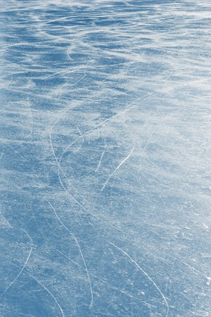 figure skates: Blue ice surface. Series Stock Photo