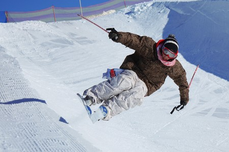 ski track: Ski and snowboard contests