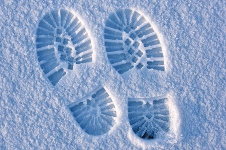 shoe print: Footprint pair