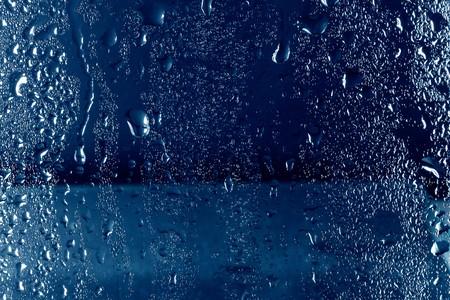 Wet glass texture photo