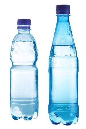 Two bottles with water photo