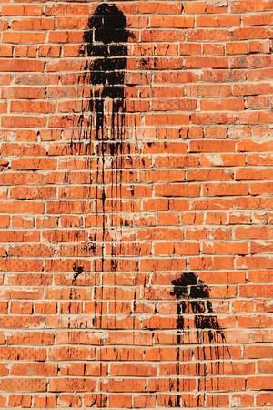 Dirty brick wall photo