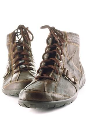 Shoes isolated on white photo