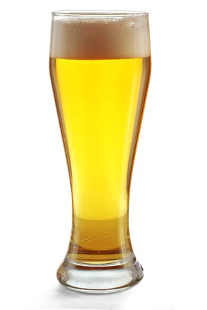 pouring beer: Glass with beer