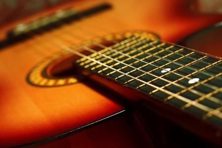 Akoestische gitaar  Stockfoto