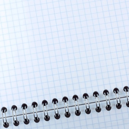 Blank notebook page photo