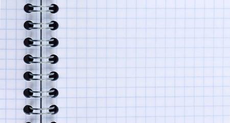 Blank slim notebook page photo