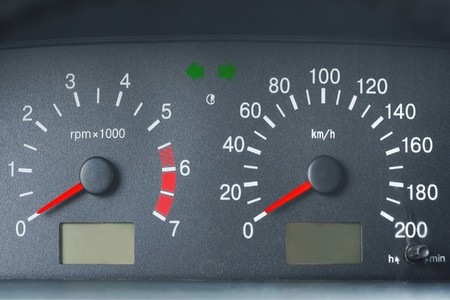 odometer: Car front panel