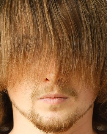 Guy with long fringe photo