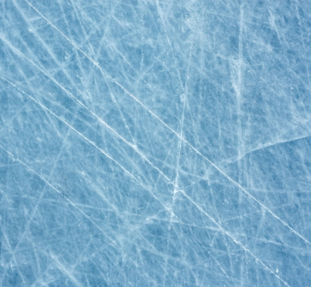 on the surface: Scratched blue ice surface Stock Photo