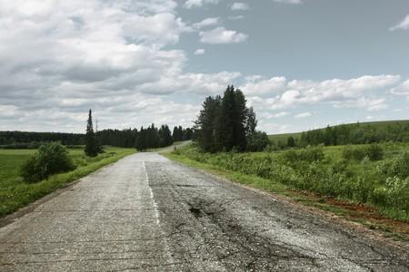 Asphalt road on rural landscape Stock Photo - 7600165