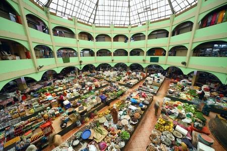 kelantan: Traditional asian market. Malaysia Pasar siti khadijah Editorial