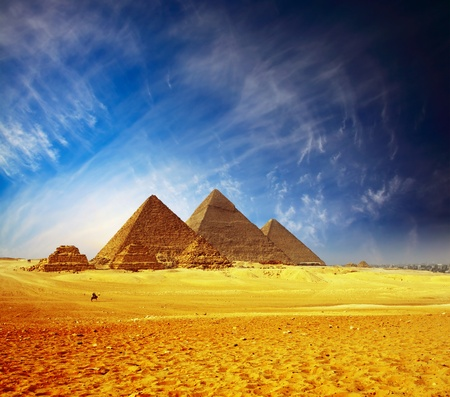 Great pyramids in Giza valley. Egypt  photo