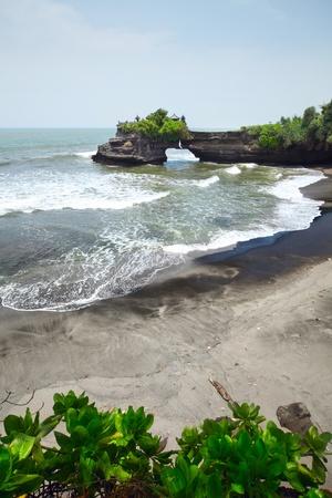 Indonesian temple on sea coast.  photo