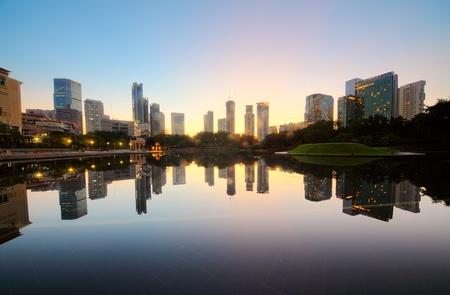malaysia city: City skyline of the Kuala Lumpur at sunrise. Malaysia