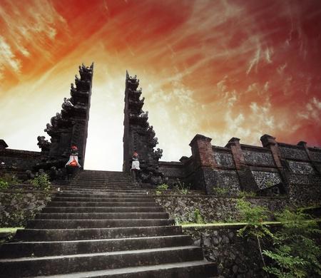 Hindu temple Pura Agung. Bali. Indonesia photo