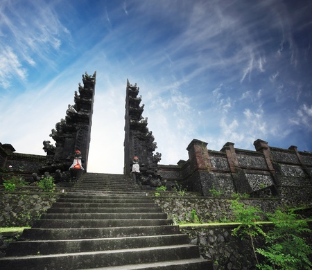 Hindu temple Pura Agung. Bali. Indonesia Stock Photo - 9266774