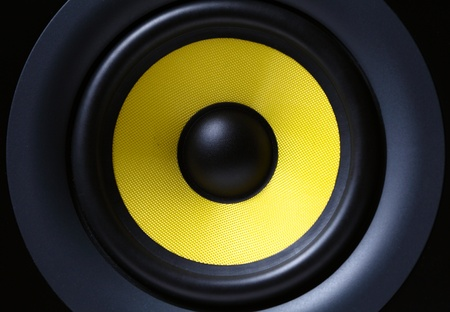 subwoofer: Part of yellow modern subwoofer