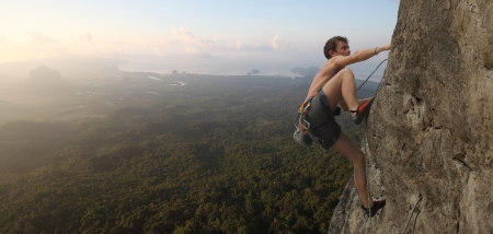 ascend: Climber Stock Photo