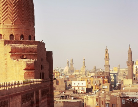 cairo: Cairo view from a tower Stock Photo