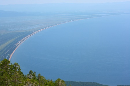 Baikal lake. View from Sviatoy Nos (Saint Nose) to mainland Stock Photo - 11540946