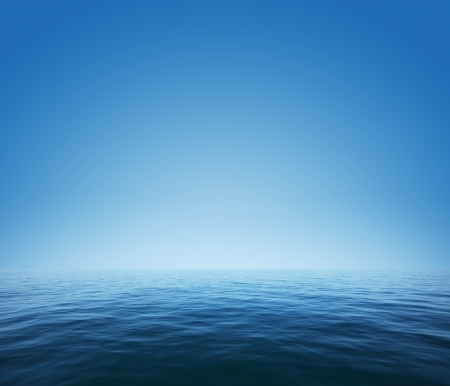 sea line: Calm sea and blue clear sky