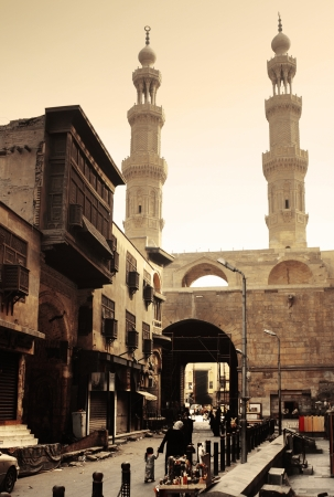 cairo: Bab Zuwayla - Southern Gate - historical building in Cairo. Inside view Stock Photo