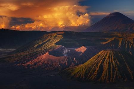 tengger: Volcanoes in Bromo Tengger Semeru National Park