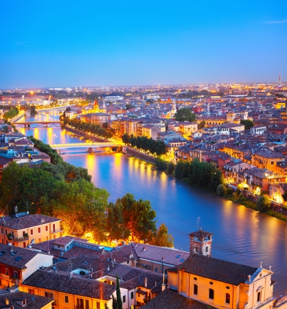 Night view of Verona city. Italy Stock Photo - 16875536