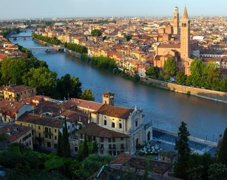 City of Verona with river at sunny day. Italy Stock Photo - 16875482