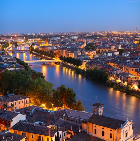 Night view of Verona city. Italy Stock Photo - 16875532
