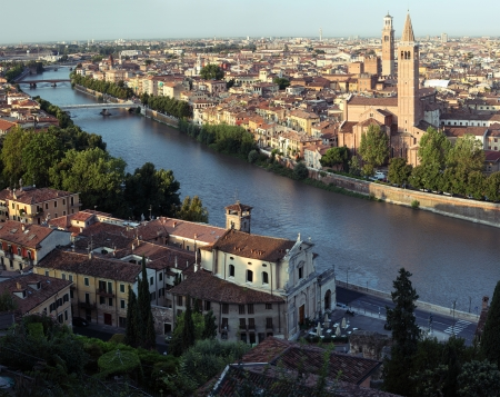 City of Verona with river at sunny day. Italy Stock Photo - 16875534