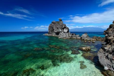 apo: Clear tropical sea and coast of Apo island. Philippines Stock Photo
