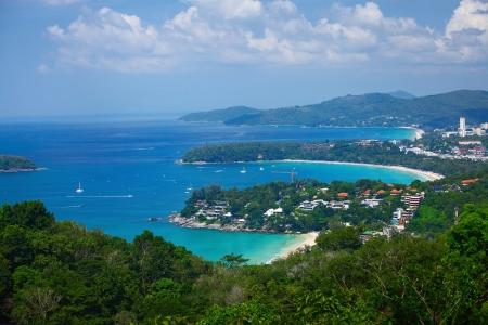 bird eye view: Andaman coastline of Phuket island. Thailand