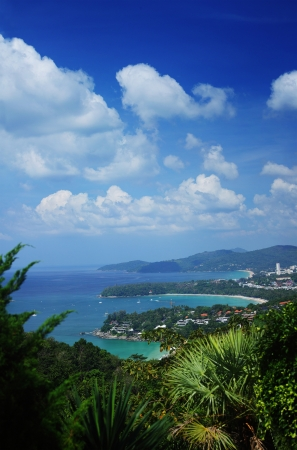 Western coastline of Phuket island (beaches from closest: Kata Noi, Kata, Karon), Andaman sea, Thailand photo