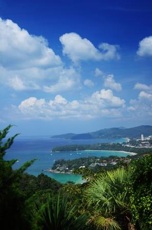 kata: Western coastline of Phuket island (beaches from closest: Kata Noi, Kata, Karon), Andaman sea, Thailand