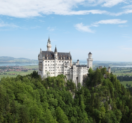 Neuschwanstein castle at sunny day  Germany photo