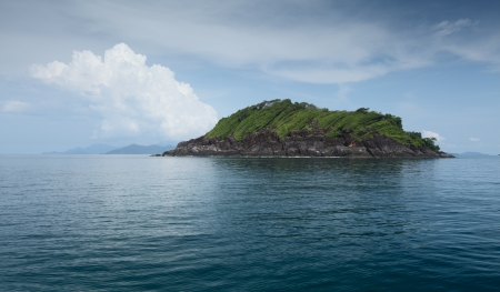 Island in a tropical sea  Thailand photo